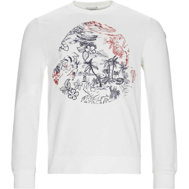 Billede af Moncler Regular fit 80420-50-8098U Sweatshirts Off White